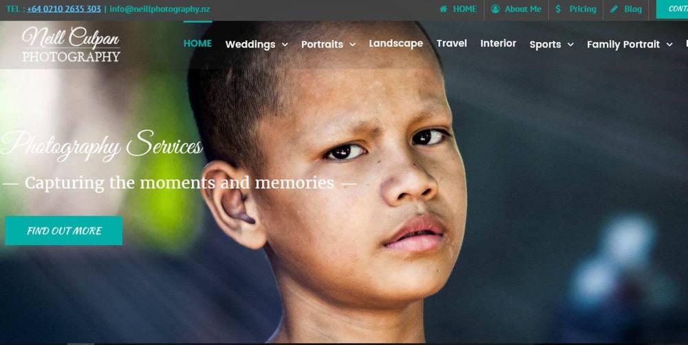 neill photography Website