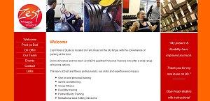 Zest Fitness Studio website