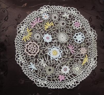 Wildflowers Crochet doily