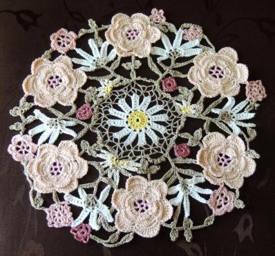Wild Roses Crochet Doily