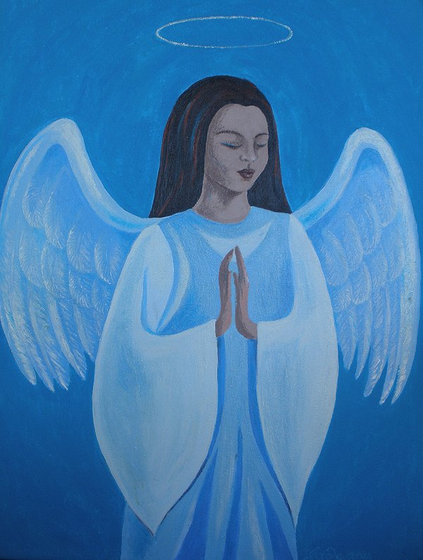 praying angel, full picture