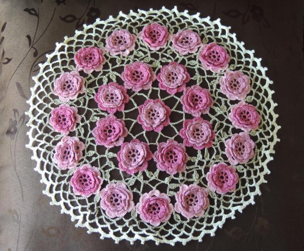 Crochet Roses Doily
