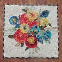 Quilted Rose Cushion Cover